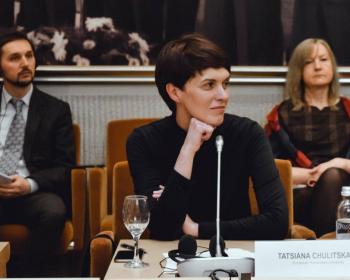 Д-р Таццяна Чуліцкая прыняла ўдзел у канферэнцыі, прысвечанай 100-годдзю БНР у Сейме Літвы