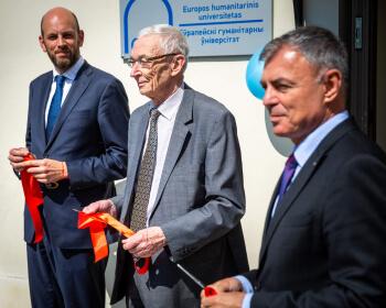 Еўрапейскі гуманітарны ўніверсітэт адкрыў новы корпус у Старым горадзе Вільні